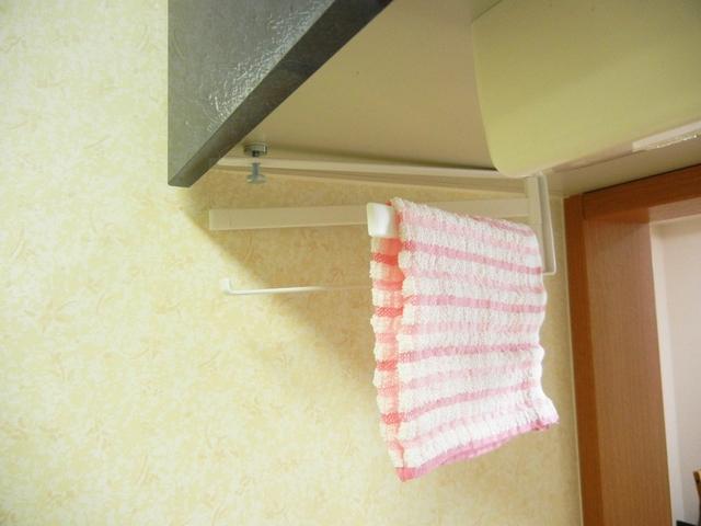 ニトリ 戸棚下 布巾ハンガー
